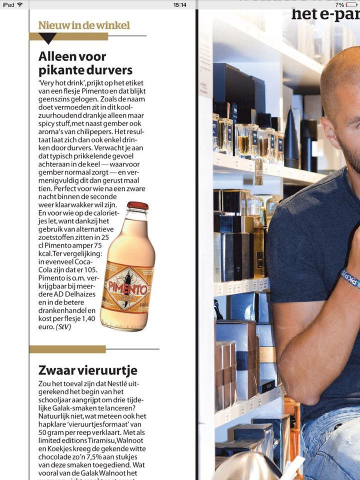 Pimento Spicy Ginger Ale -- HLN 05-06.09.2015